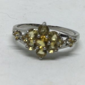 Citrine S925 Silver Ring size 8